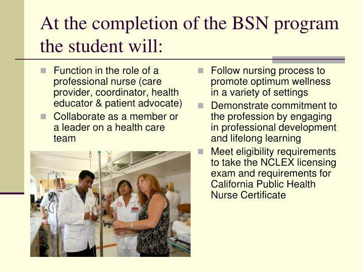 nursing roles in program development The nursing program includes both classroom instruction and clinical practice in adult health nursing, family health nursing and mental health nursing attention: the nursing department has reinstated the associate degree nursing extended track program please contact the nursing.