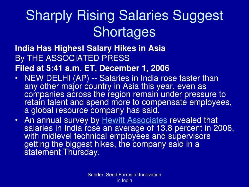 Sharply Rising Salaries Suggest Shortages
