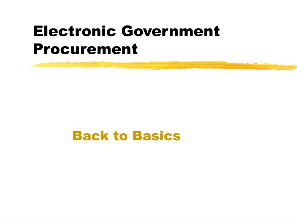 Electronic Government Procurement