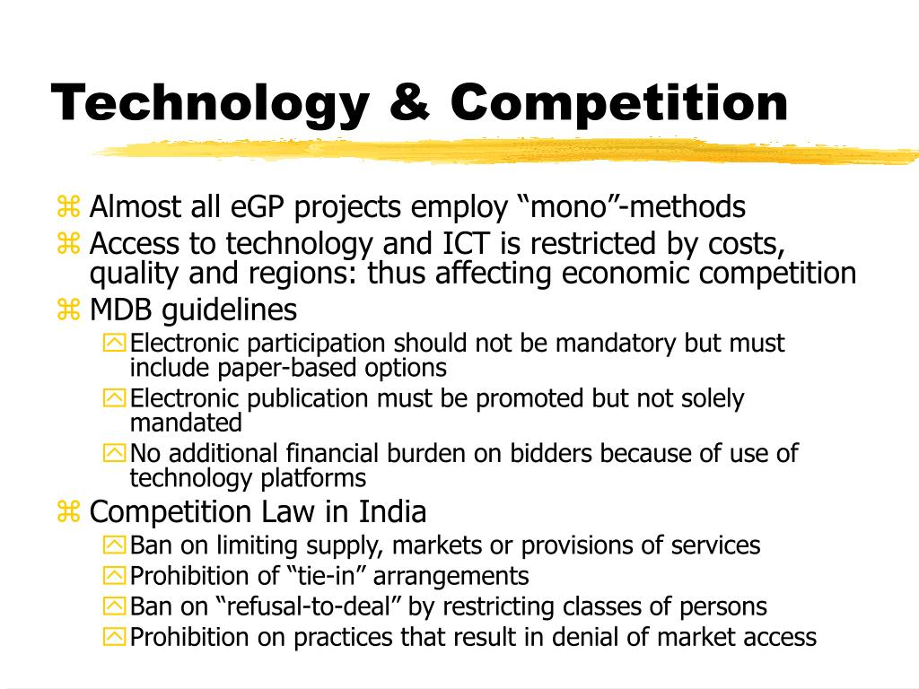 Technology & Competition