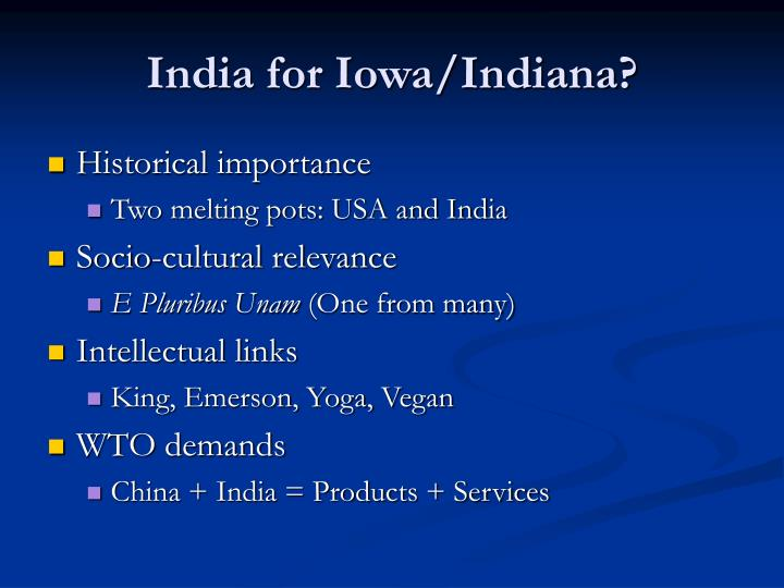 India for iowa indiana