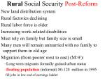 rural social security post reform