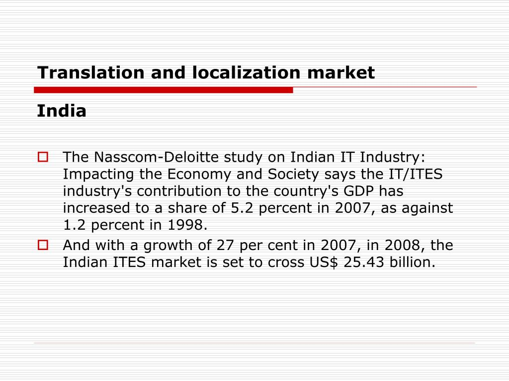 Translation and localization market