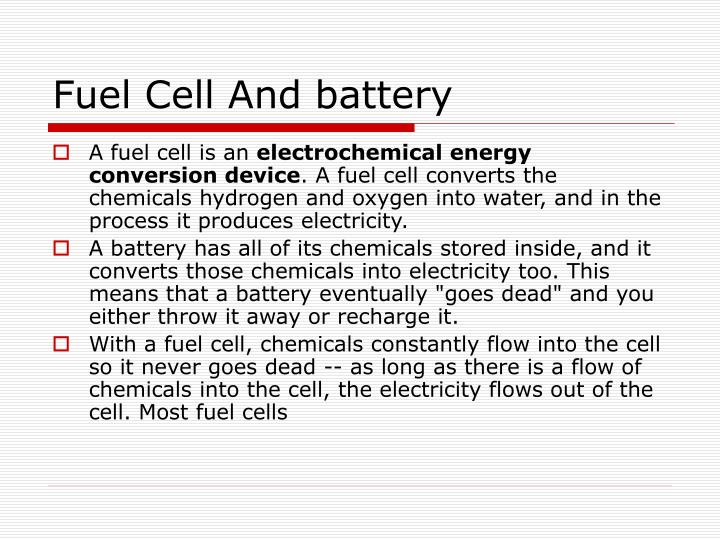 Fuel Cell And battery