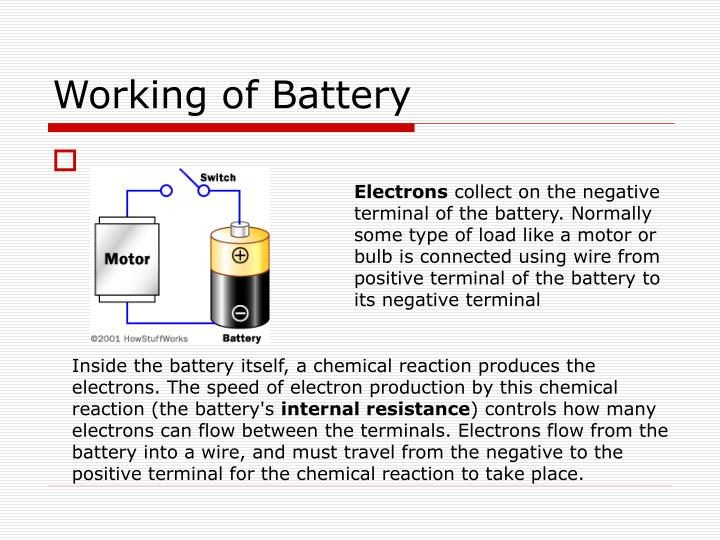 Working of Battery