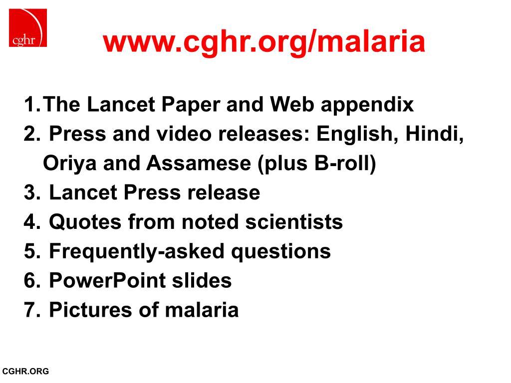 www.cghr.org/malaria