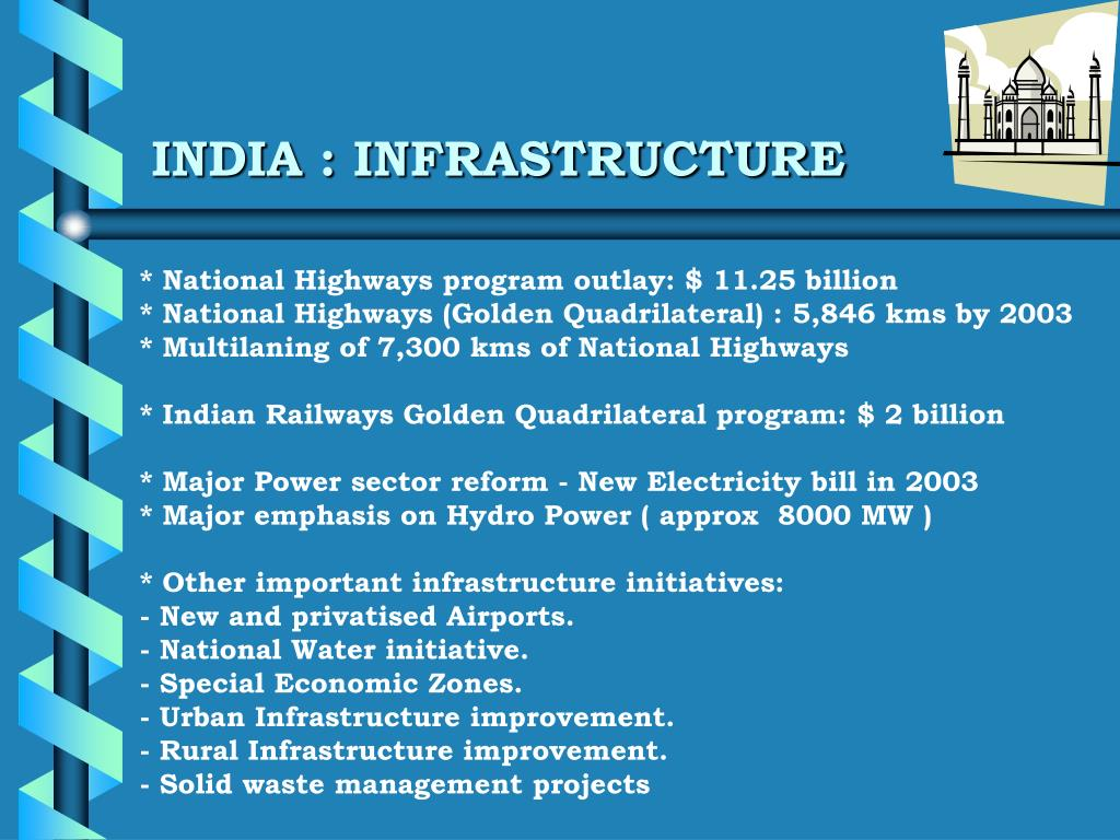 INDIA : INFRASTRUCTURE