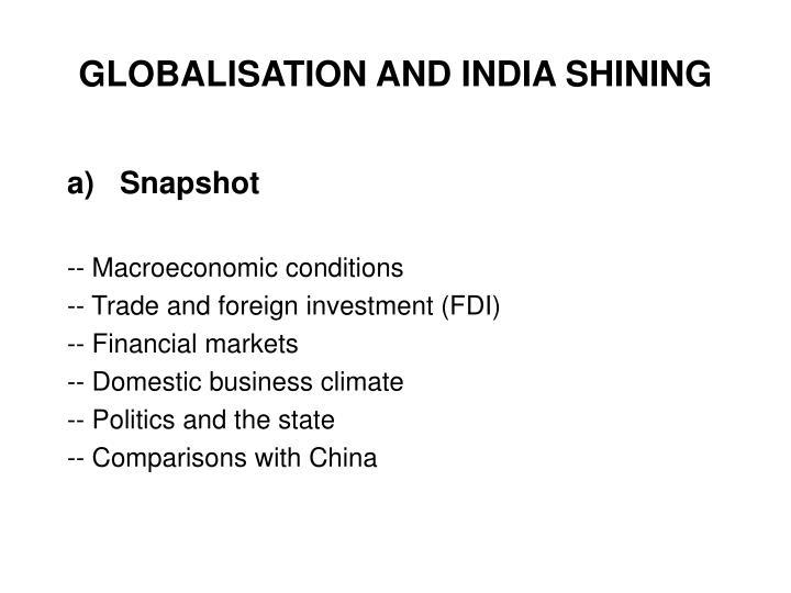 Globalisation and india shining3