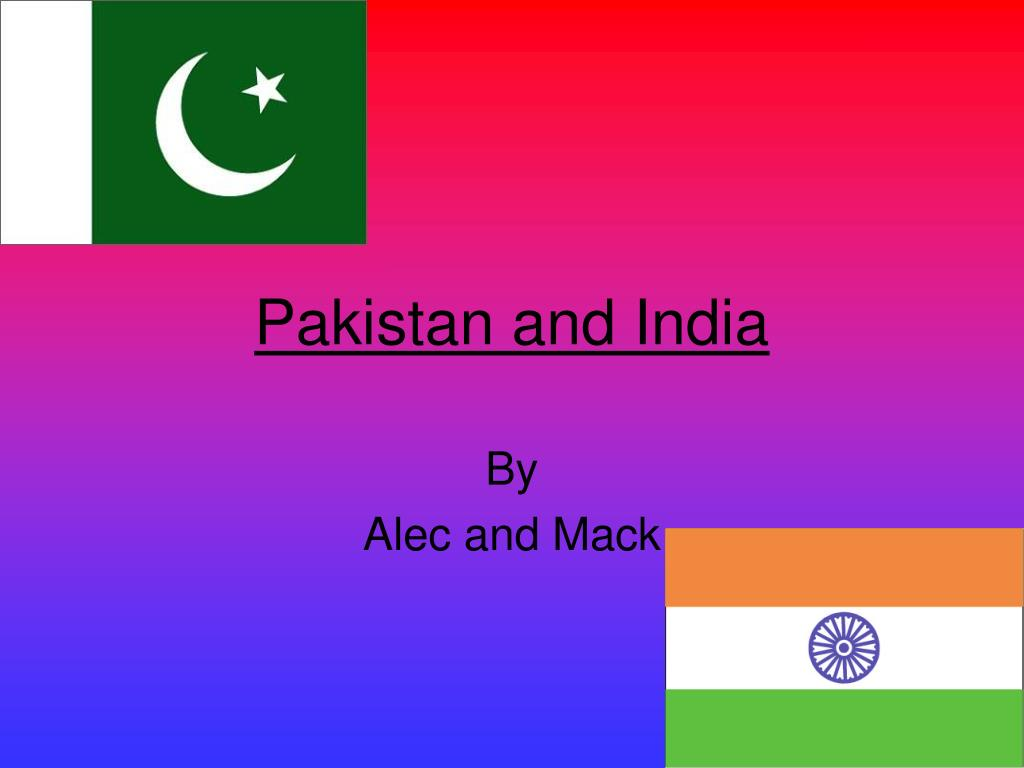 pakistan and india l.