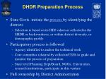 dhdr preparation process