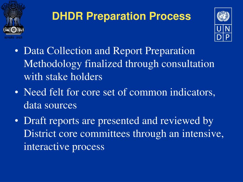 Data Collection and Report Preparation Methodology finalized through consultation with stake holders