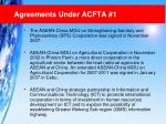 agreements under acfta 1
