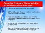 countries economic characteristics asean needs to define a better strategy