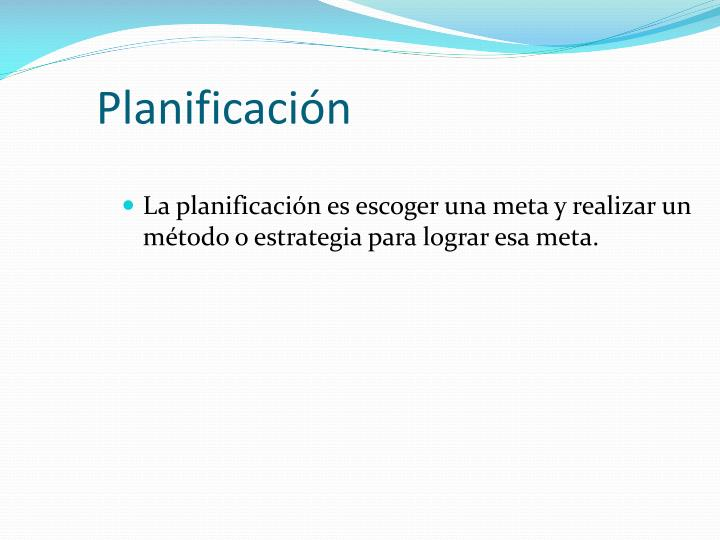 Planificaci n