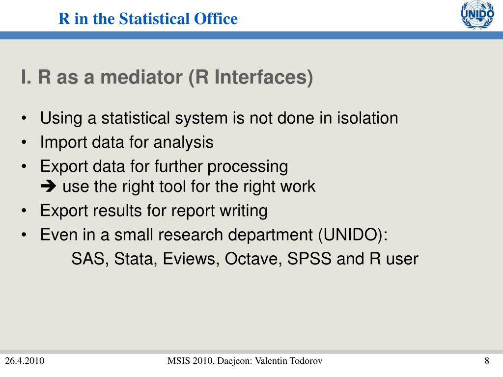 I. R as a mediator (R Interfaces)