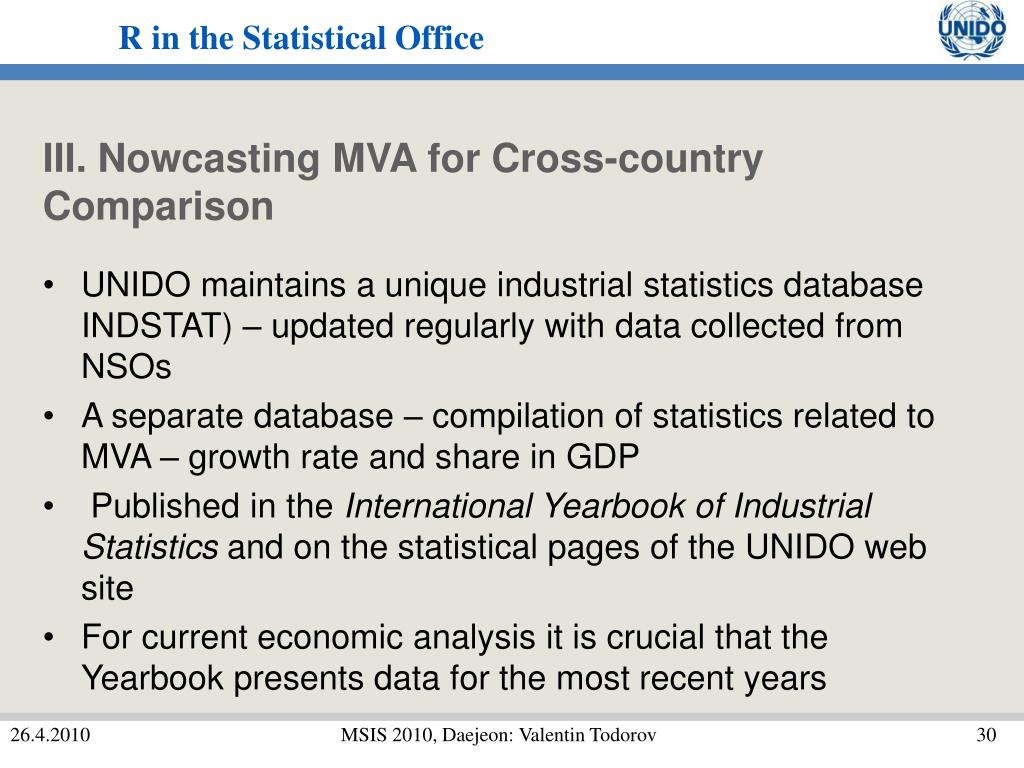 III. Nowcasting MVA for Cross-country Comparison