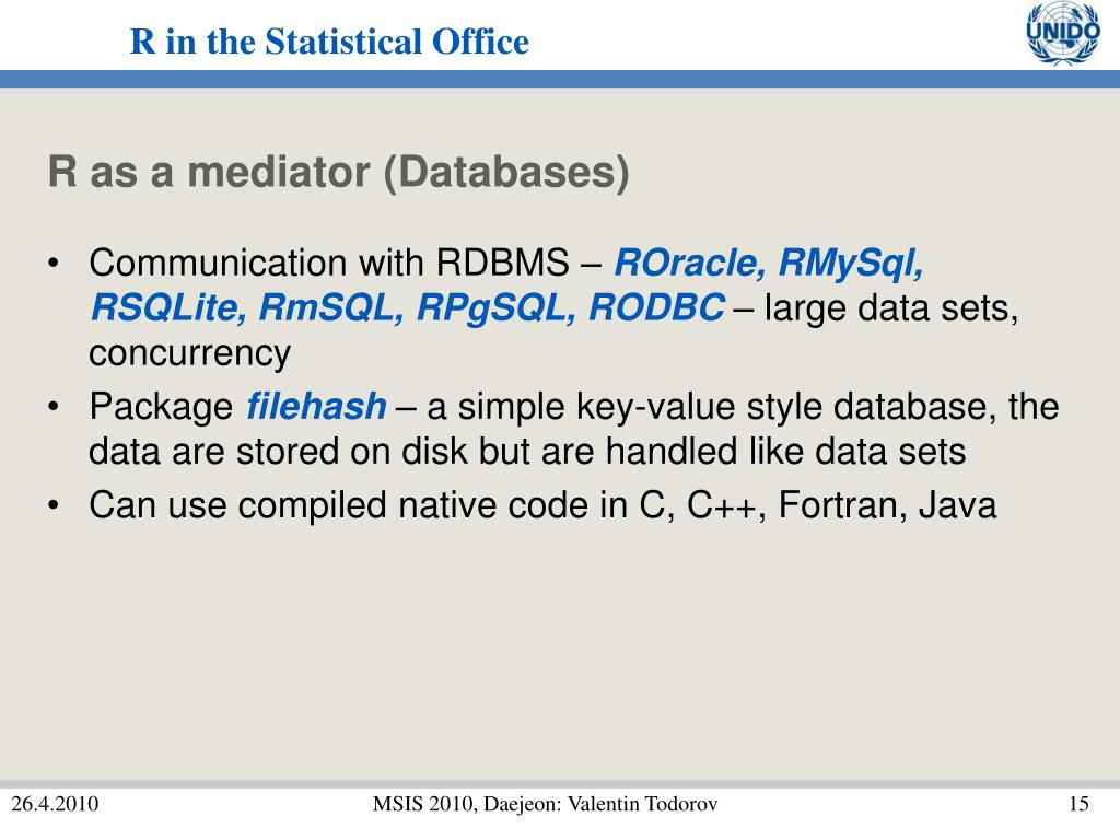 R as a mediator (Databases)