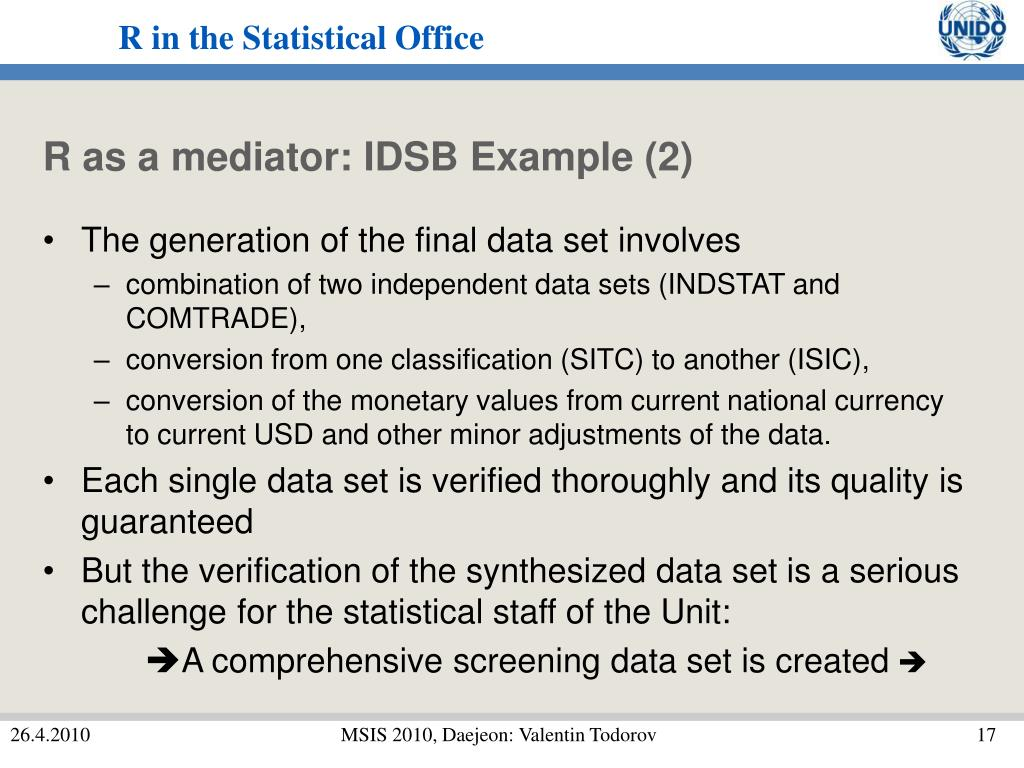 R as a mediator: IDSB Example (2)