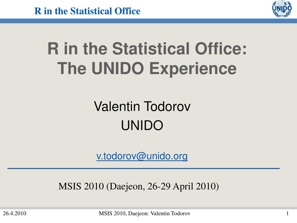 R in the Statistical Office: