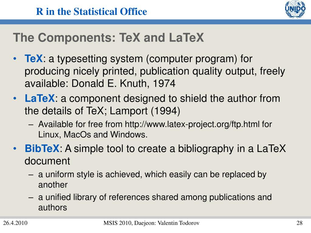 The Components: TeX and LaTeX
