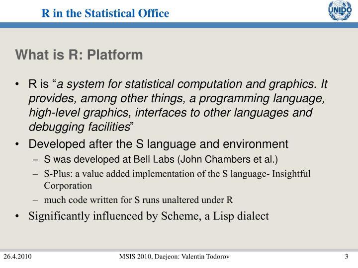 What is r platform