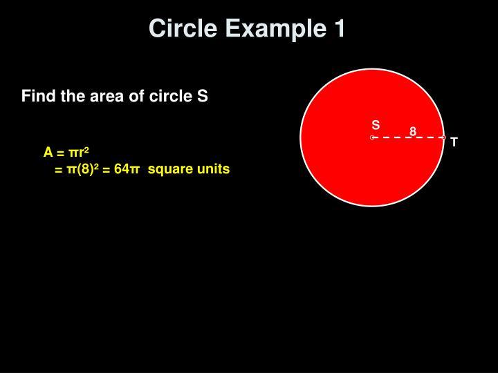 Circle Example 1