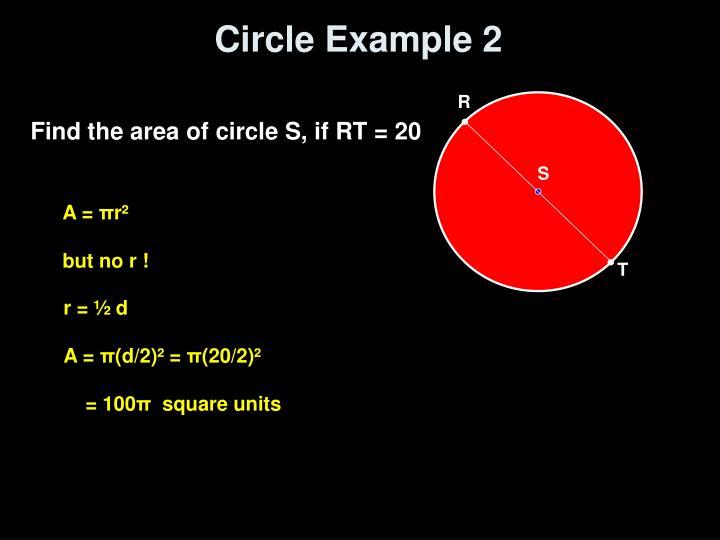 Circle Example 2