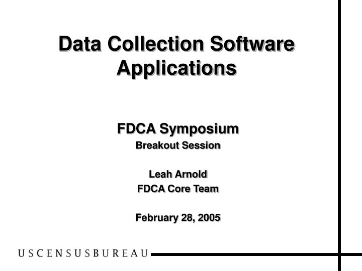 Fdca symposium breakout session leah arnold fdca core team february 28 2005