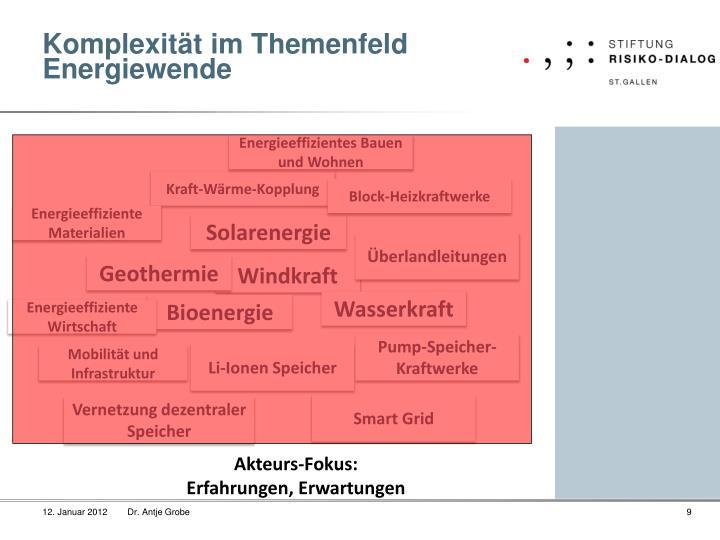 Komplexität im Themenfeld Energiewende