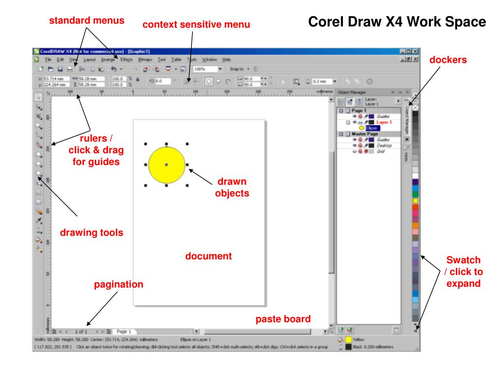 Corel Draw X4 Work Space