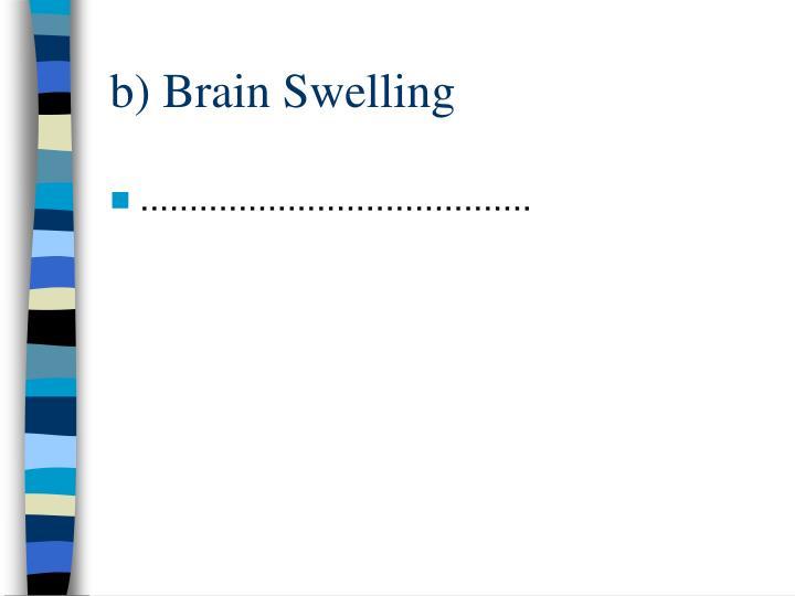 b) Brain Swelling