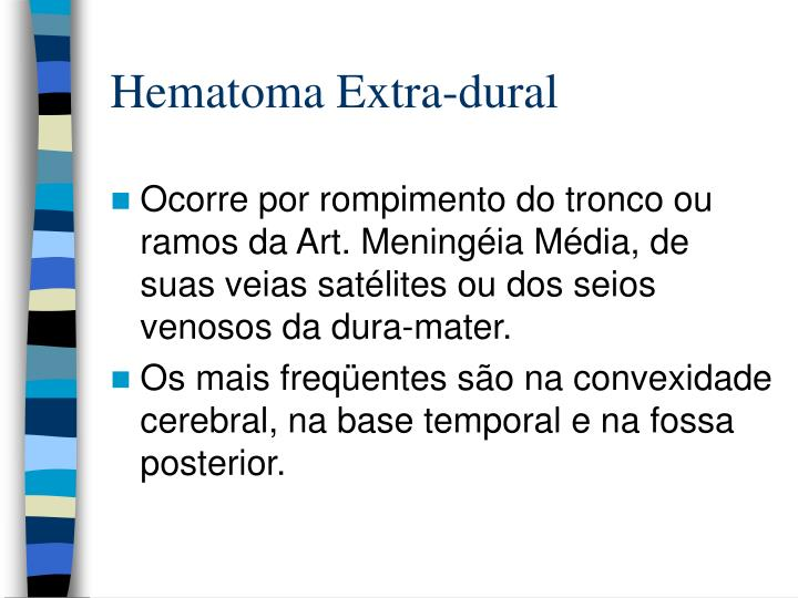 Hematoma Extra-dural