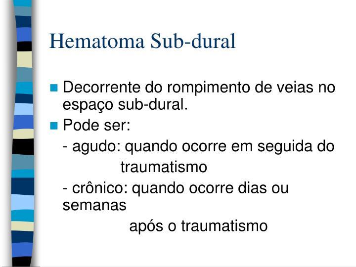 Hematoma Sub-dural