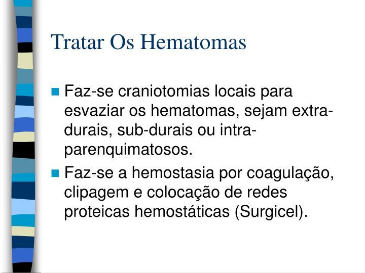 Tratar Os Hematomas