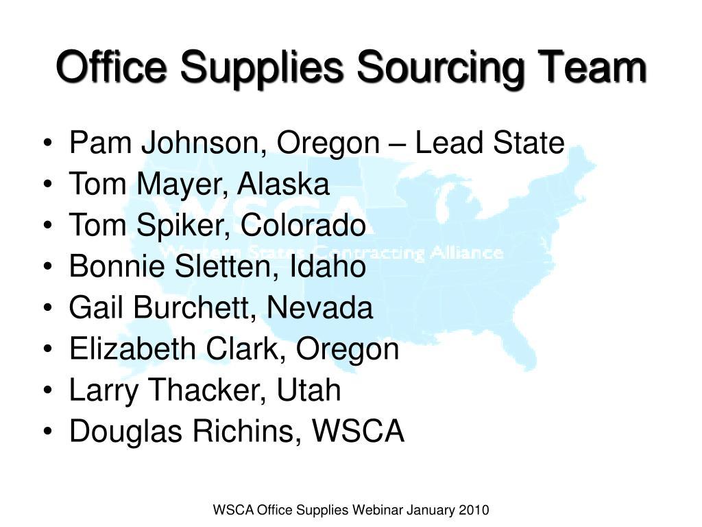Office Supplies Sourcing Team