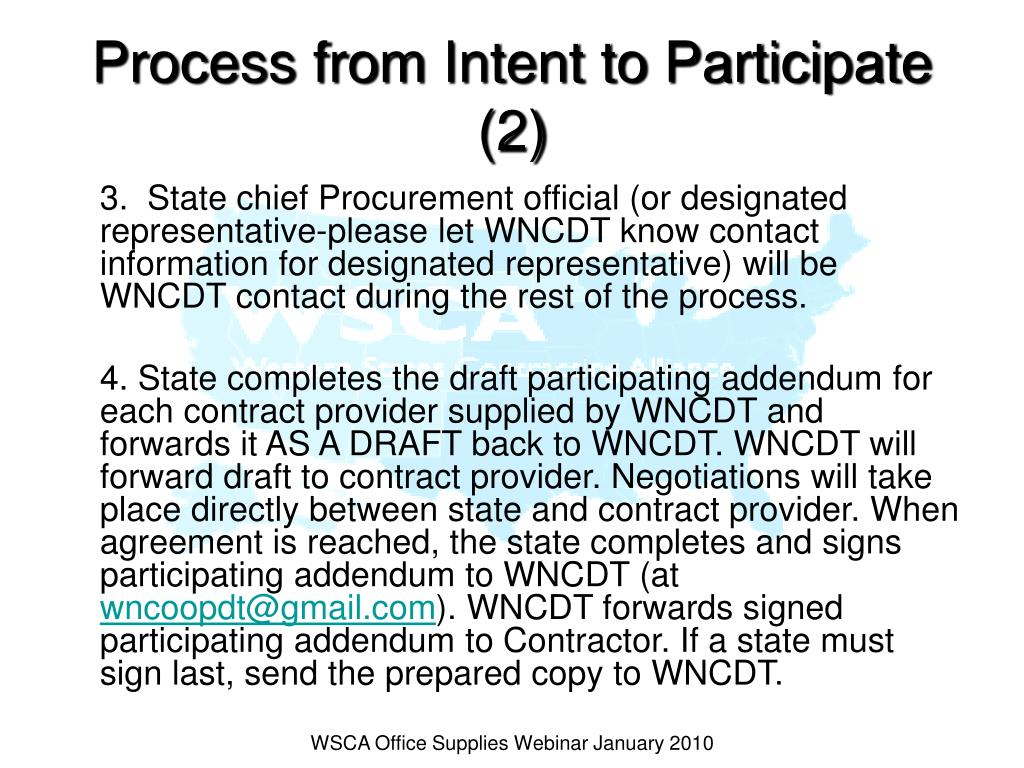Process from Intent to Participate (2)