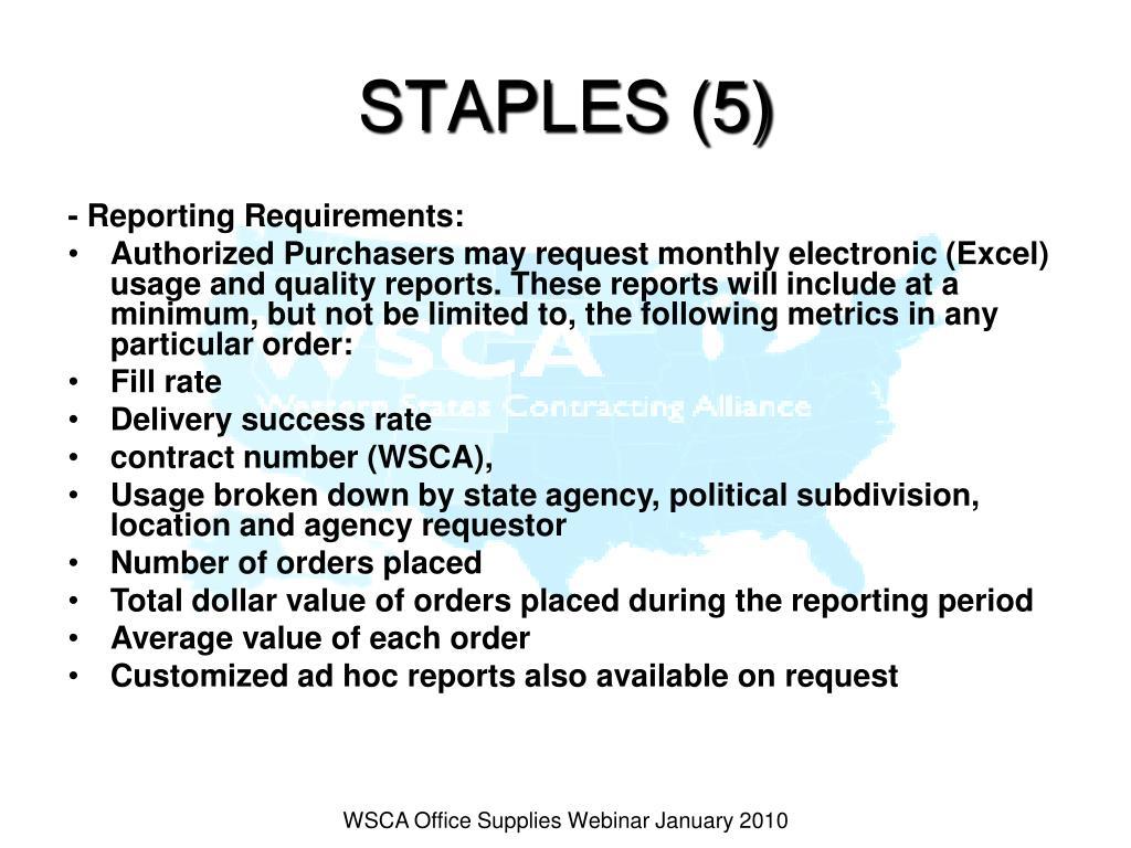 STAPLES (5)