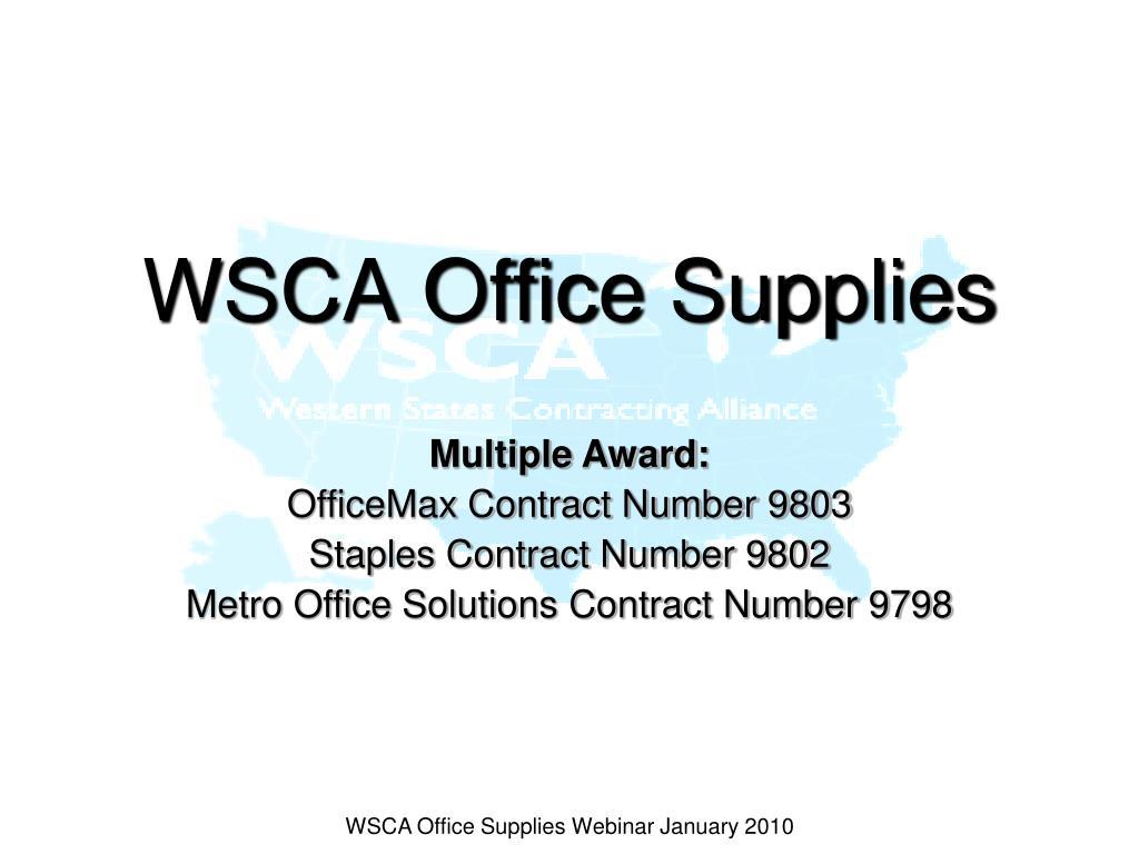 WSCA Office Supplies