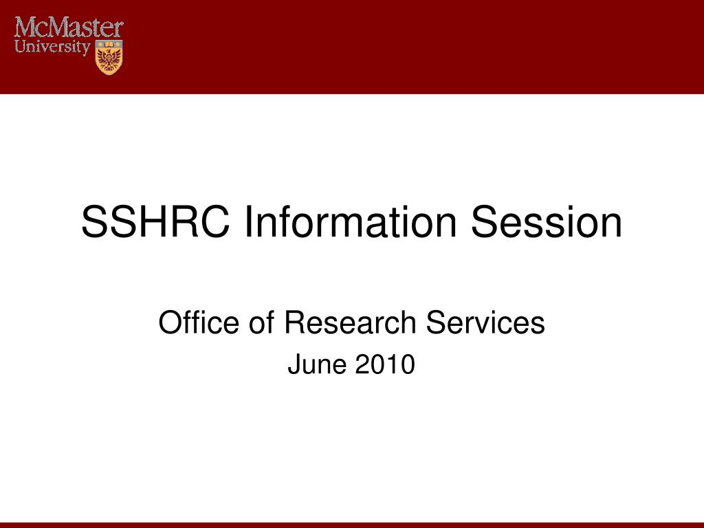 sshrc information session l.
