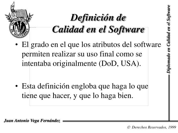 Definici n de calidad en el software