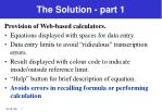 the solution part 1