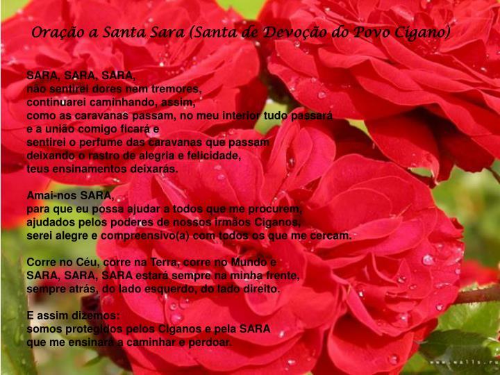 Oração a Santa Sara (Santa de Devoção do Povo Cigano)