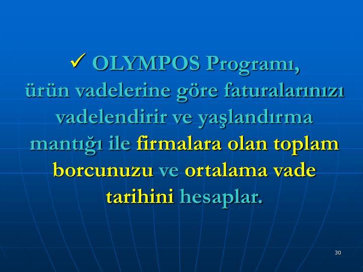 OLYMPOS Programı,