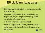 eu platforma izpostavlja