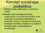 koncept socialnega podjeti tva
