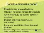 socialna dimenzija pobud