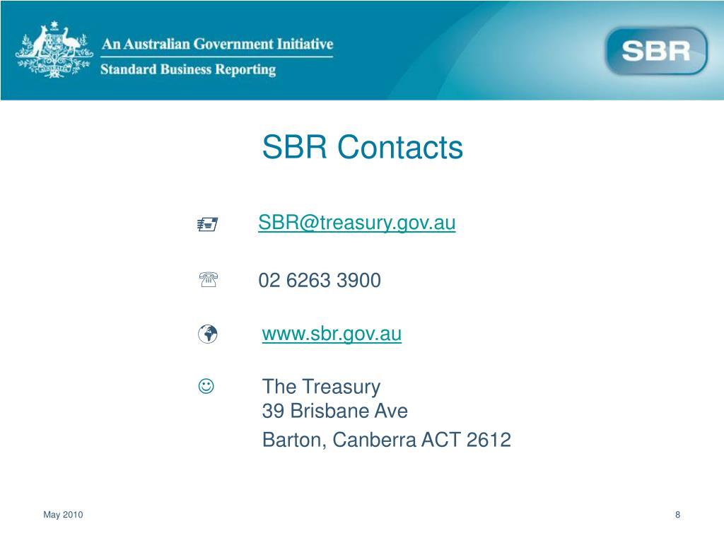 SBR Contacts