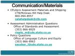 communication materials