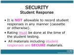 security student response