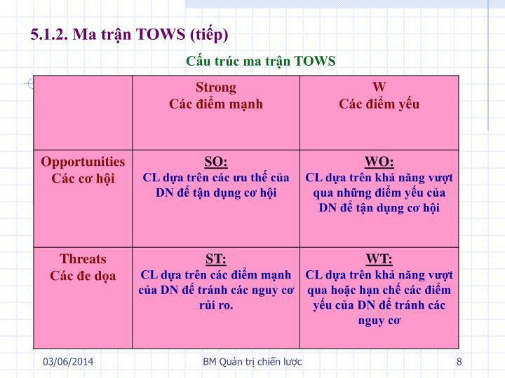 Cấu trúc ma trận TOWS